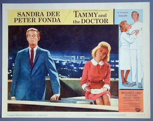 TAMMY & THE DOCTOR Sandra Dee/Peter Fonda original '63 Lobby Card