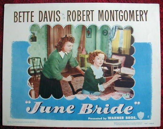 AG21 JUNE BRIDE Bette Davis original '48 lobby card