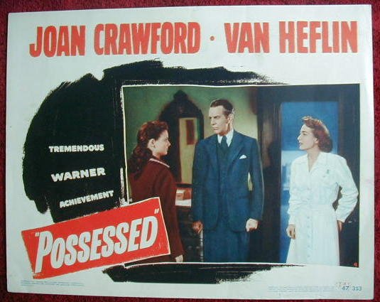 AG41 POSSESSED Joan Crawford original 1947 lobby card