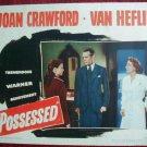 AG41 POSSESSED Joan Crawford original 1947 lobby card
