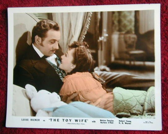 AH48 TOY WIFE Luise Rainer/Douglas '38 orig color still