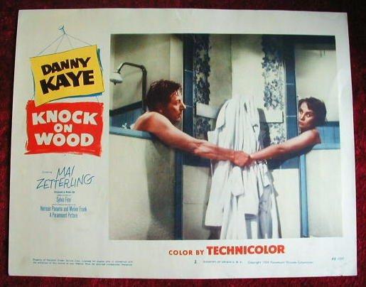 AI17  KNOCK ON WOOD Danny Kaye orig '54 lobby card