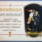 AO25 LOVE OVER NIGHT Rod LaRocque orig 1928 TC