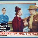 AS07 LAST OF MRS CHEYNEY Joan Crawford orig '37   LC