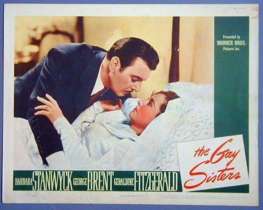 AU24 GAY SISTERS Barbara Stanwyck orig '42 lobby card