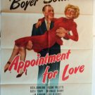 AJ04 APPOINTMENT FOR LOVE Charles Boyer and Margaret Sullavan GREAT '41 1SH
