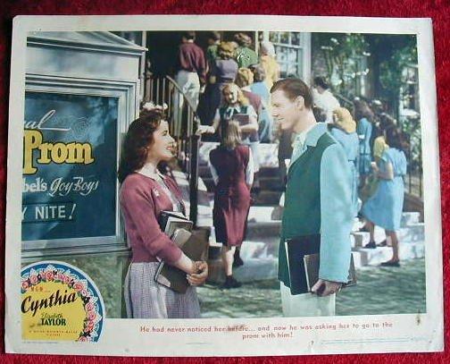 AJ09 CYNTHIA Elizabeth Taylor (young!) original  1947  lobby card