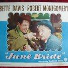 AJ21 JUNE BRIDE Bette Davis original  1948 lobby card