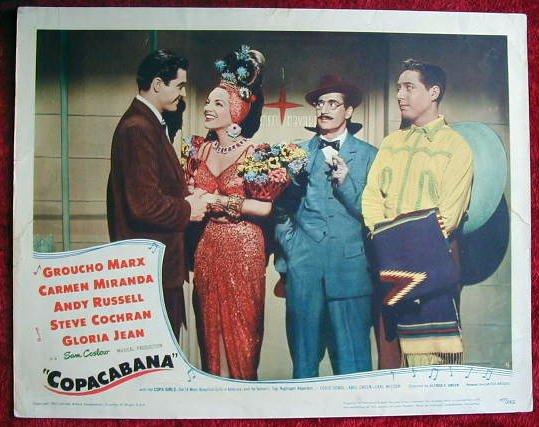 AN06 COPACABANA Groucho Marx/Carmen Miranda orig '47 LC