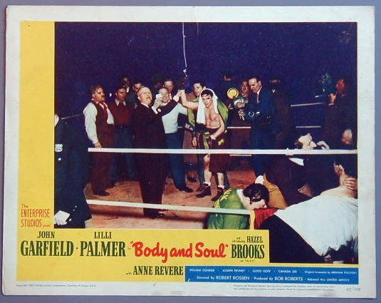 AP05 BODY & SOUL John Garfield original 1947 lobby card
