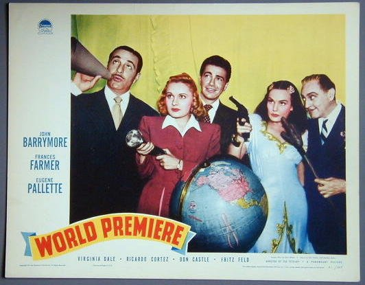 AQ54 WORLD PREMIERE John Barrymore/Frances Farmer 41 LC