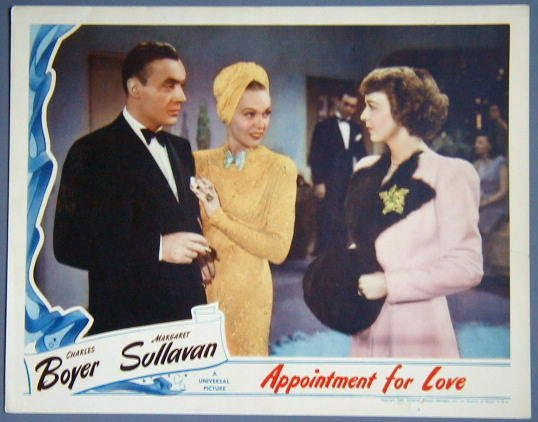 AT09 APPOINTMENT FOR LOVE Boyer/Sullavan GREAT  '41 LC