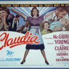 AT19 CLAUDIA Dorothy McGuire/Robert Young GREAT  '43 TC