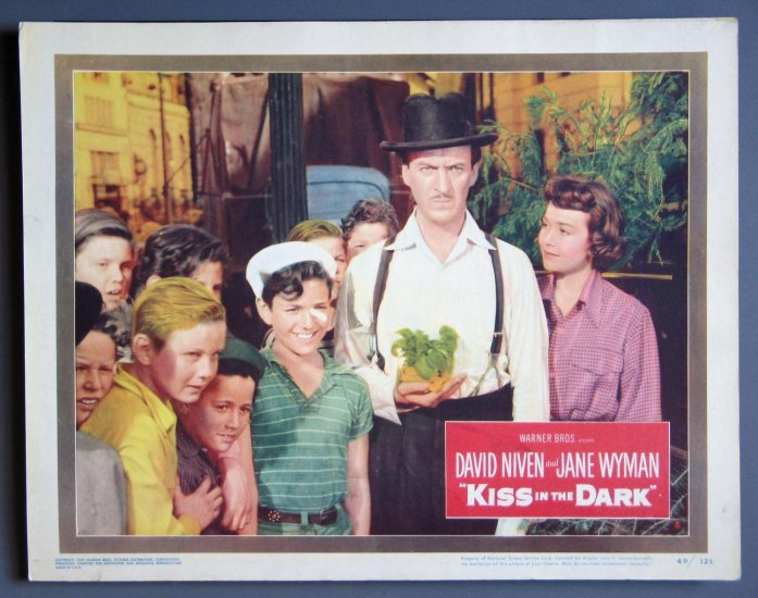 AW25 KISS IN THE DARK Jane Wyman/D Niven '49 Lobby Card