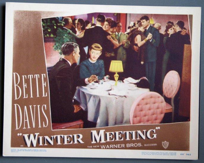 AY48 Winter Meeting BETTE DAVIS Orig 48 Lobby Card #6
