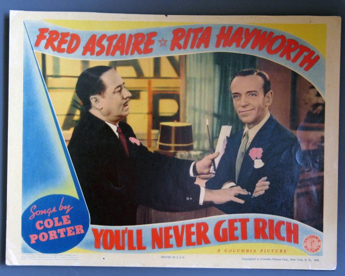 AY51 You'll Never Get Rich FRED ASTAIRE Orig Lobby Card