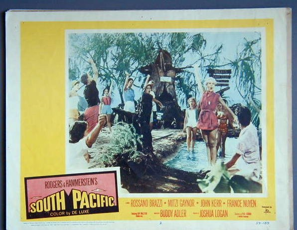AM36 SOUTH PACIFIC Mitzi Gaynor orig 1959 lobby card