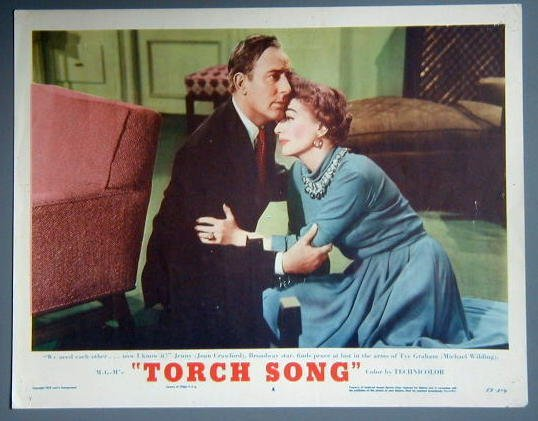 AR47 TORCH SONG Joan Crawford orig 1953 lobby card