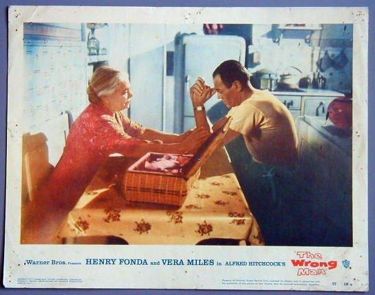 AU53 WRONG MAN Henry Fonda HITCHCOCK orig '57 LC