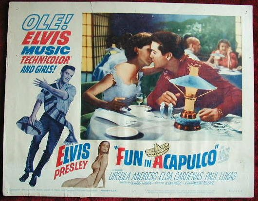AK10 FUN IN ACAPULCO  Elvis Presley original  '63 lobby card