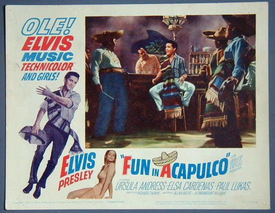 AT29 FUN IN ACAPULCO Elvis Presley ORIG 1963 lobby card