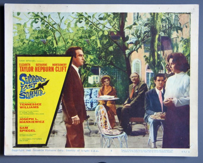 AW44 SUDDENLY LAST SUMMER Taylor/Hepburn/Clift '60 LC