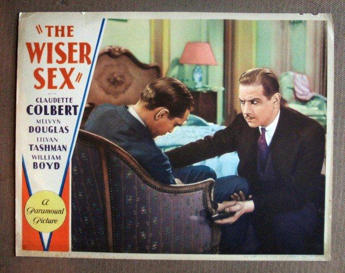DJ45 Wiser Sex MELVYN DOUGLAS/C COLBERT 1932 Lobby Card