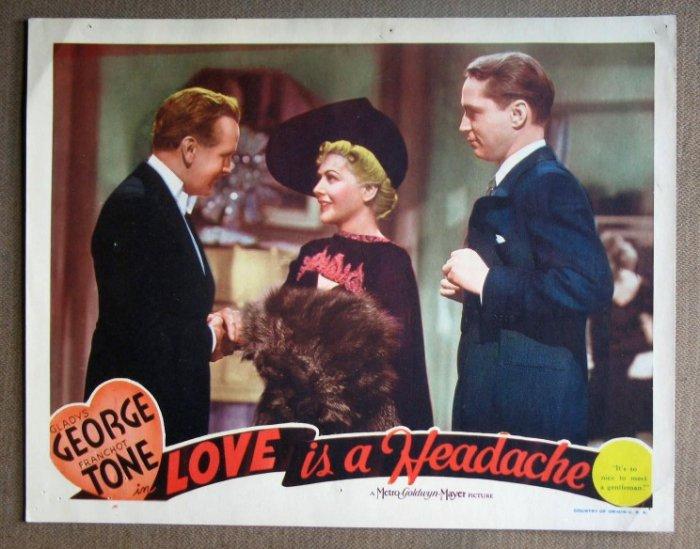 DL27 LOVE IS A HEADACHE Gladys George GREAT orig '38 LC