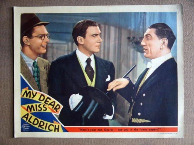DZ27 My Dear Miss Aldrich WALTER PIDGEON '37 Lobby Card