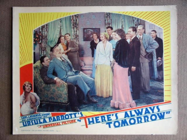 DZ44 There's Always Tomorrow FRANK MORGAN 34 Lobby Card