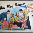 EA46 This Way Please BETTE GRABLE Orig 1937 Lobby Card