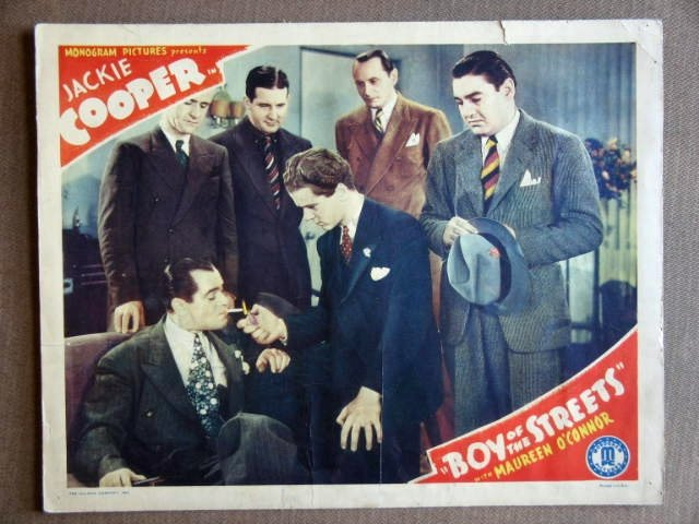 EB04 Boys Of The Streets JACKIE COOPER 1938 Lobby Card