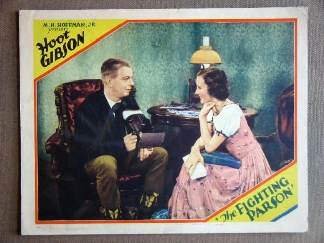 EB11 Fighting Parson HOOT GIBSON Orig 1933 Lobby Card
