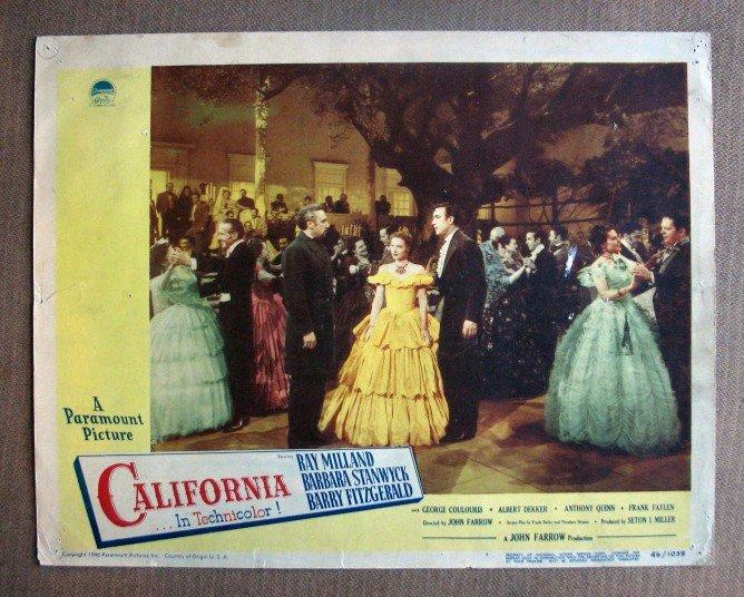 DJ09 California BARBARA STANWYCK/A QUINN '46 Lobby Card