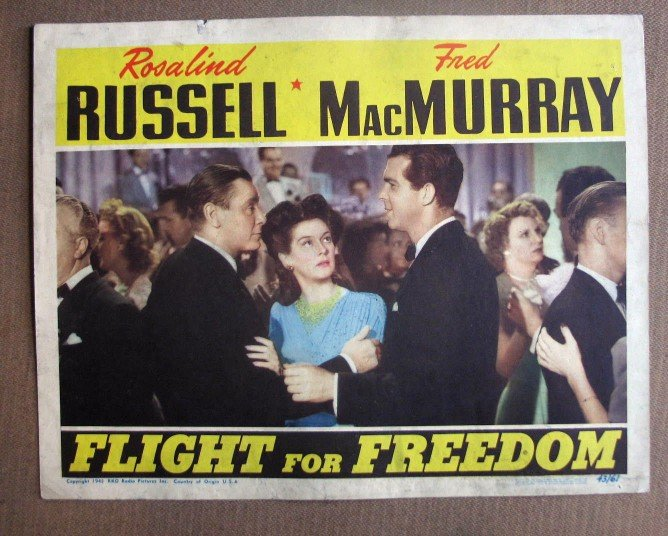 DJ15 Flight For Freedom ROSALIND RUSSELL1943 Lobby Card