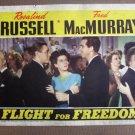 DJ15 Flight For Freedom ROSALIND RUSSELL1943 Lobby Card