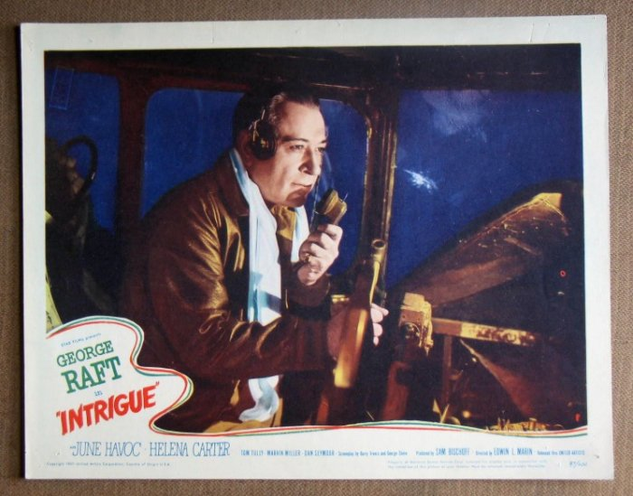 DL19 Intrigue GEORGE RAFT '47 Portrait Lobby Card