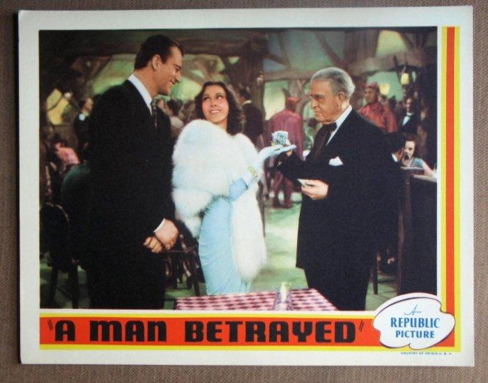 DL30 A MAN BETRAYED John Wayne MINT orig '41 LC