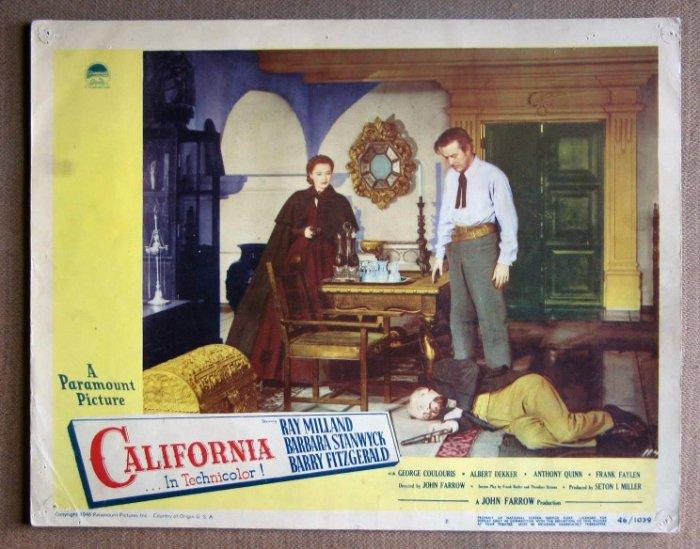 DM09 California BARBARA STANWYCK/RAY MILLAND Lobby Card
