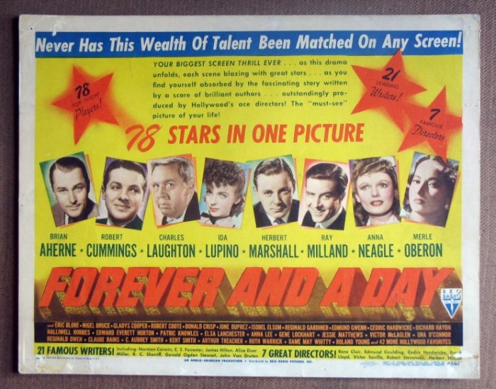 DM19 Forever & A Day IDA LUPINO/OBERON Title Lobby Card
