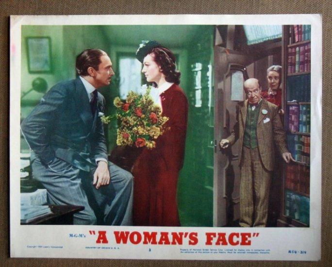 DQ50 Woman's Face JOAN CRAWFORD/DOUGLAS Lobby Card