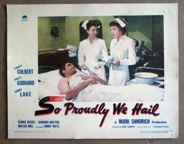 DS38 Proudly We Hail GEORGE REEVES/C COLBERT Lobby Card