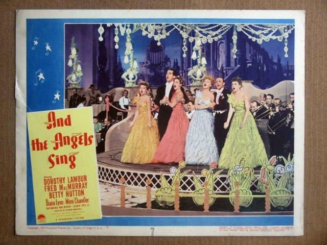 DV03 Angels Sing BETTY HUTTON/D LAMOUR Lobby Card