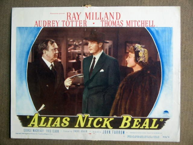 DW04 Alias Nick Beal RAY MILLAND/T MITCHELL Lobby Card