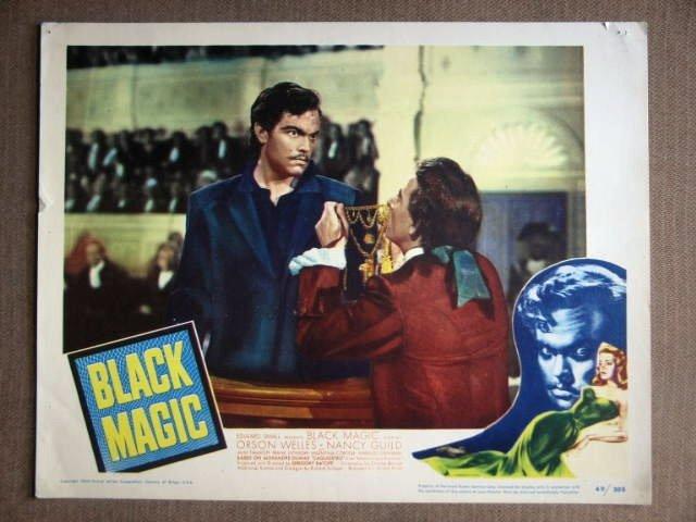 DX43 Black Magic ORSON WELLES Original '49 Lobby Card