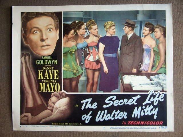 DY37 Secret Life Of Walter Mitty DANNY KAYE Lobby Card