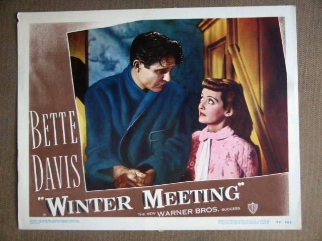 DY52 Winter Meeting BETTE DAVIS '48 Portrait Lobby Card