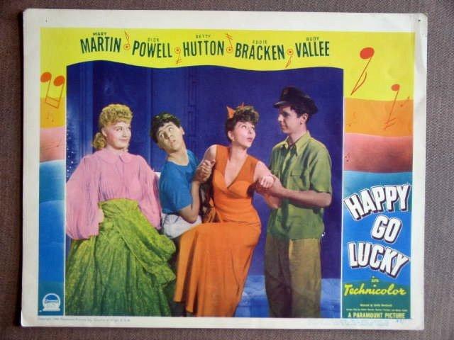 EA24 Happy Go Lucky DICK POWELL/MARY MARTIN Lobby Card