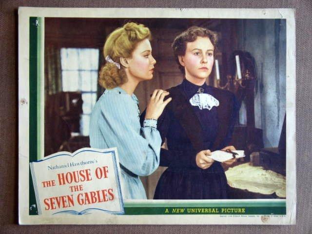 EB23 House Of Seven Gables MARGARET LINDSAY Lobby Card