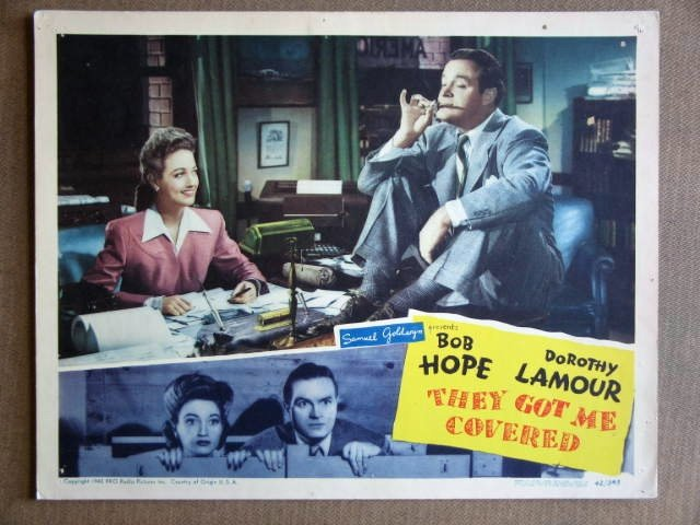 EB41 They Got Me Covered BOB HOPE/D LAMOUR Lobby Card